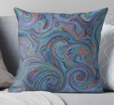 blue accent pillows