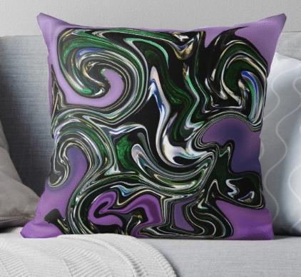decorative pillow purple