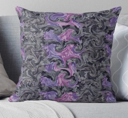 decorative pillows purple