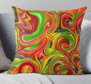 throw pillows colorful