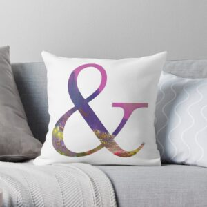 Ampersand Sign Decorative Throw Pillows For Bed