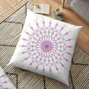 Purple Geometric Pillow