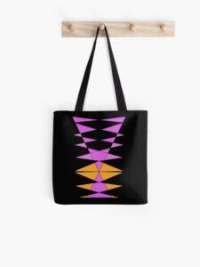 Purple Orange Geometric Tote Bag