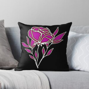 Rose and Leaves Decorative Pillows For Bed